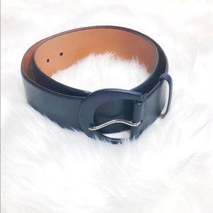 Ralph Lauren Navy Blue Wide Belt